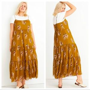 NWT Madewell Cami Tier Midi Dress